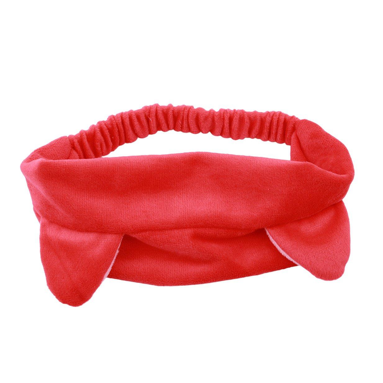 Lalang Headband Bandeau Oreille de Chat pour Maquillage Lavage de Visage Douche (Noir) 88_Store