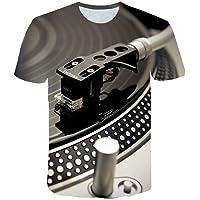 YX Camisetas De Manga Corta De Moda Impresas En 3D Unisex Top Tees Casual Creative Technics Graphics Crewneck Cool Personality T-Shirts (Color : Multi-Colored, Size : S)