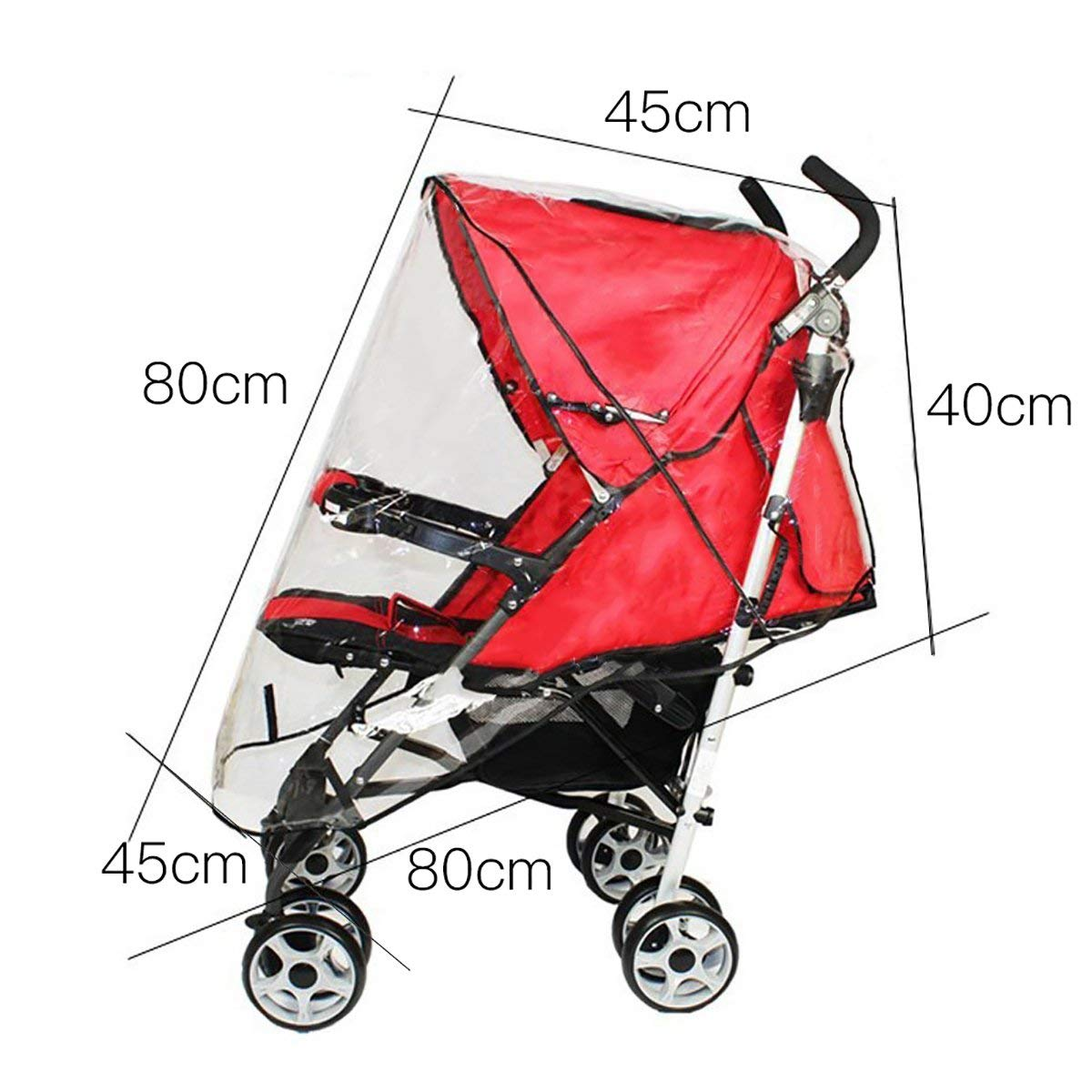 Universal Baby Stroller Rain Cover Travel Outdoor Pushchair Rain Cover Large for Stroller Pram Buggy Baby Carriage
