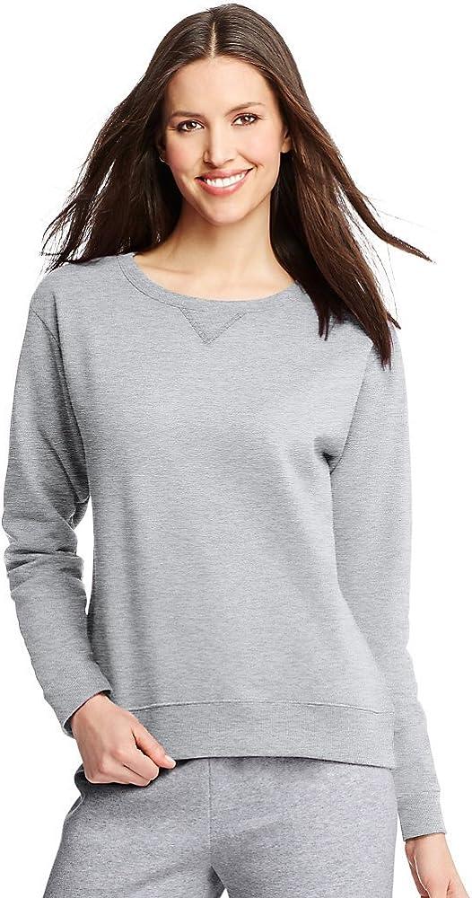 Hanes Damen Sweatshirt ComfortSoft EcoSmart Crewneck Leichter Stahl
