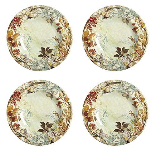 - Nantucket Home Harvest Leaf Heavyweight Melamine Salad Plates, Set of 4