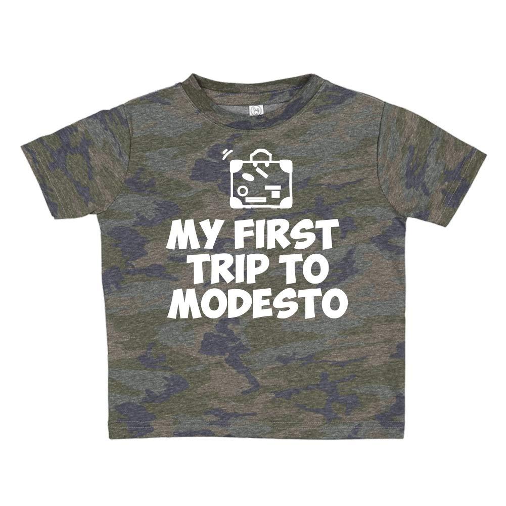 Toddler//Kids Short Sleeve T-Shirt My First Trip to Modesto