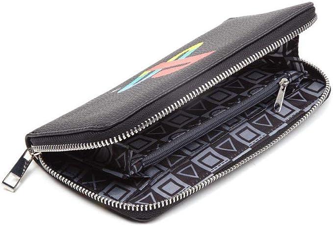 Monedero con Cremallera Playstation 24 cm Color Negro