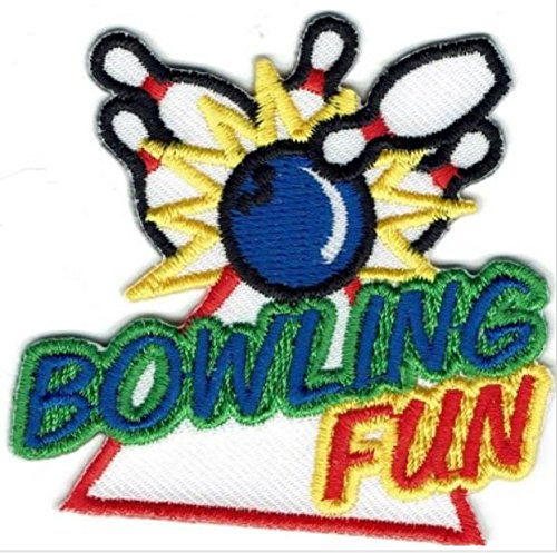 Cub Girl Boy BOWLING Embroidered Iron-On Fun Patch Crests Badge Scout Guides