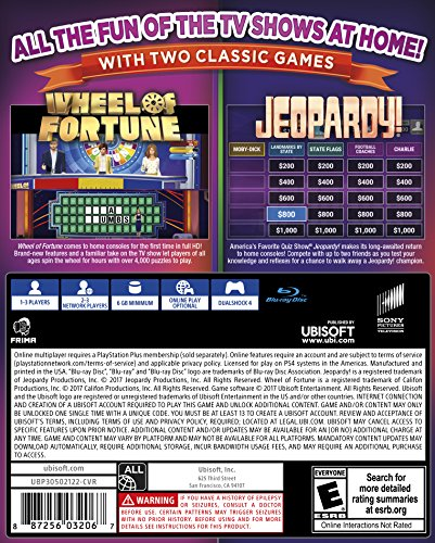 Amazon Com America S Greatest Game Shows Wheel Of Fortune Jeopardy Playstation 4 Standard Edition Ubisoft Video Games