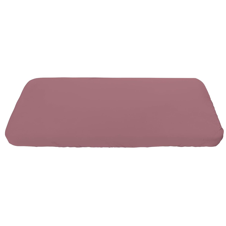 Sebra Jersey-Spannbettlaken aus Bio-Baumwolle für Kinderbetten (160x70 cm) in staubrosa