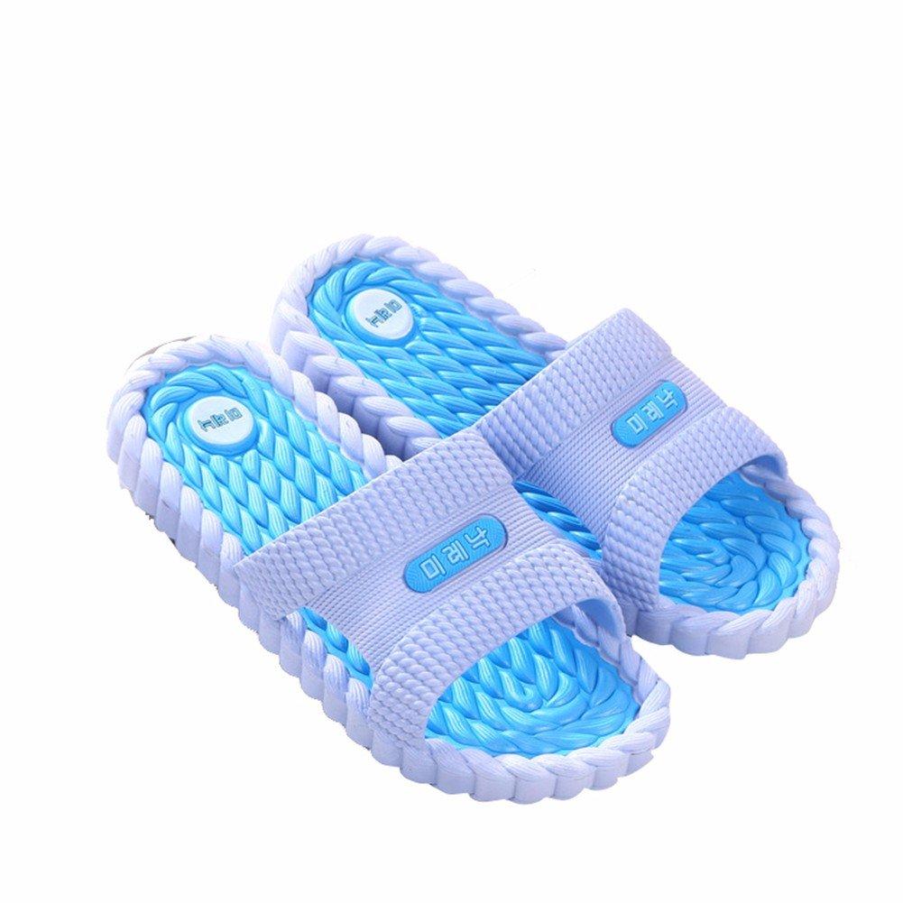 YUCH Kleidung Hausschuhe im Weichen Boden Des Badezimmers im Sommer,Blau,36