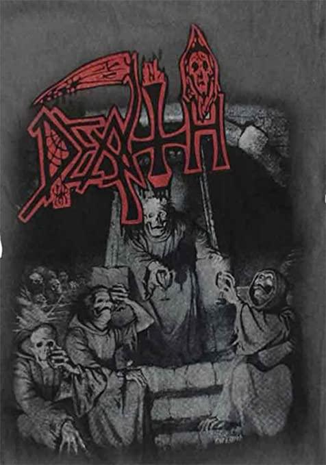 f7753c70edc438 Amazon.com  DEATH T Shirt Scream Bloody Gore Band Logo Official Mens Vintage  Wash  Clothing