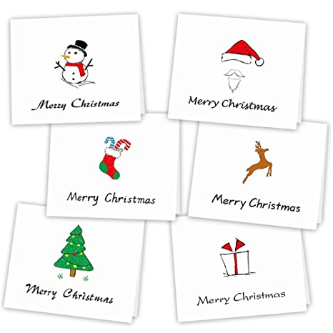 Kuuqa 36 Pieces Merry Christmas Greeting Cards Holiday Cards With