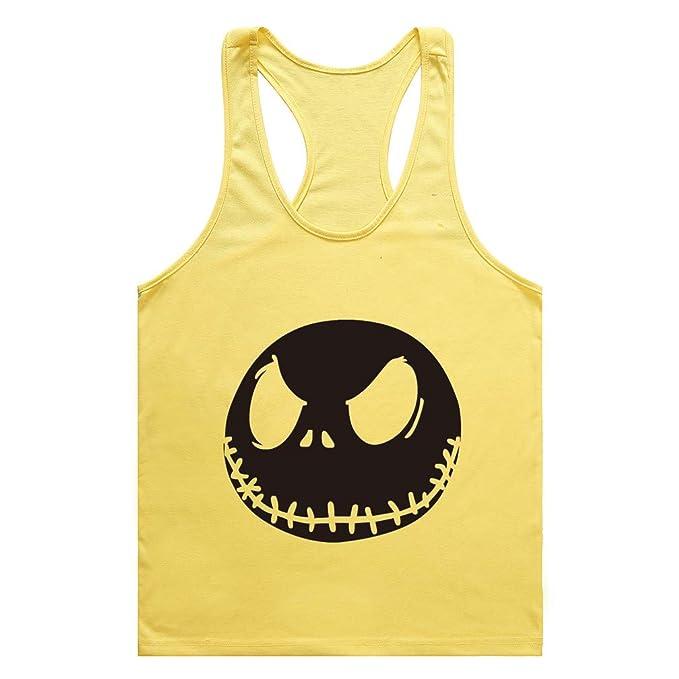 Befox Hombre Camiseta de Tirantes Chaleco Músculo Fit Sin Mangas Loose Transpirable Camisetas Gym Chaleco: Amazon.es: Ropa y accesorios