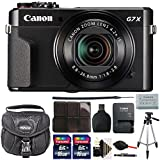 Canon PowerShot G7 X Mark II 20.1 MP Wifi/NFC Digital Camera (Black) + 2 x 16GB Memory Card + Case +Tall Tripod + More