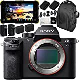 Sony Alpha a7S II Mirrorless Digital Camera with Atomos Shogun Flame 7 4K HDMI/SDI Recording Monitor 11PC Accessory Bundle – Includes Deluxe Backpack + MORE