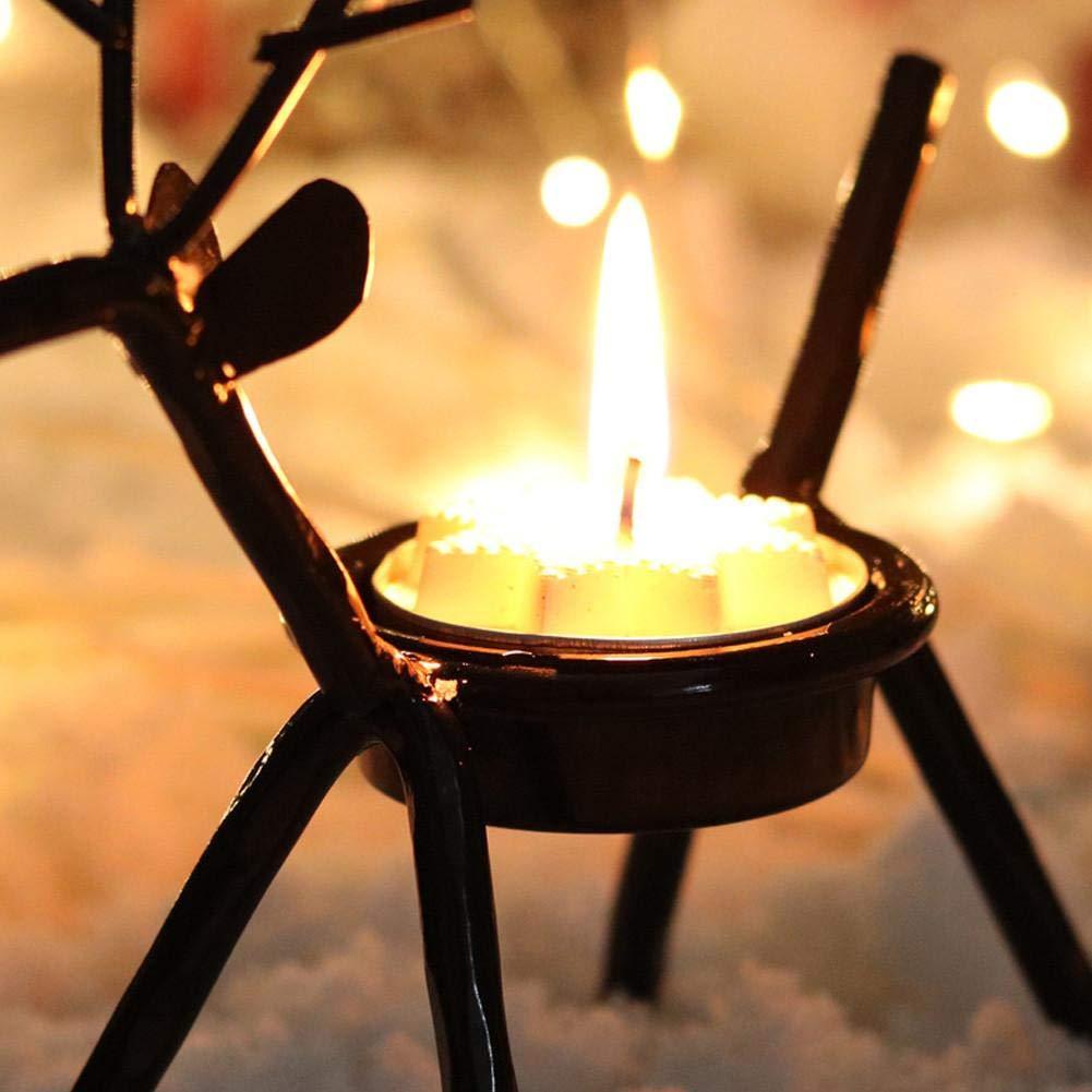 Set of 4 Reindeer Tea Light Candle Holders,Minimalist Christmas Tea Light Holders Candlestick for Weddings,Parties,Birthday,Holiday Decorations