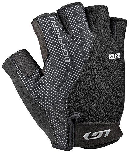 Louis Garneau - Men's Air Gel + RTR Padded, Breathable, Half Finger Bike Gloves, Black, ()
