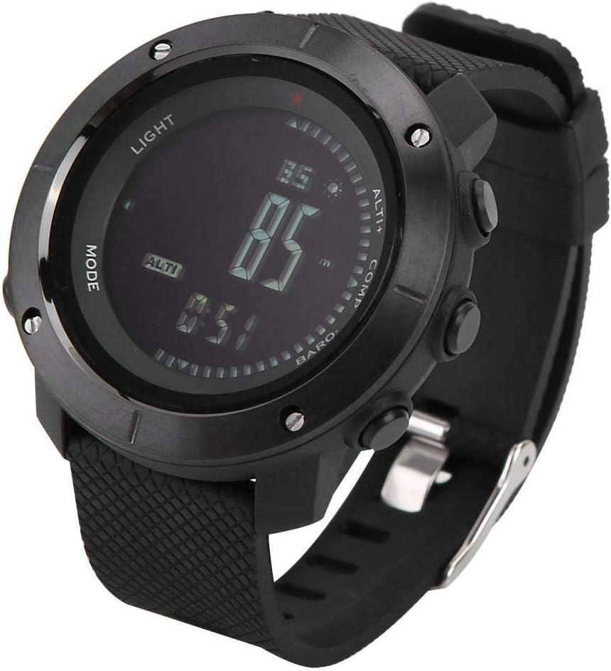 Zerone Reloj Multifuncional para Deportes al Aire Libre con barómetro de Seguimiento Podómetro Brújula Impermeable para Ejercicios