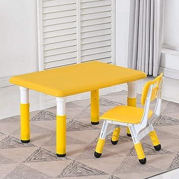 CTC Juego de Mesa Y Silla para NiñOs/NiñOs, Mesa Elevadora MultifuncióN, Actividades de JardíN Interior Durable/amarillo / 1 table 1 chairs: Amazon.es: Bricolaje y herramientas
