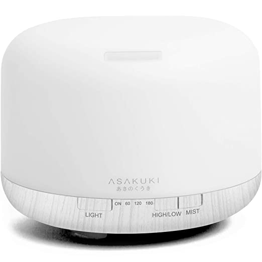 Asakuki 500ml Premium, Essential Oil Diffuser, 5 In 1 Ultrasonic Aromatherapy Fragrant Oil Vaporizer Humidifier, Timer... by Asakuki