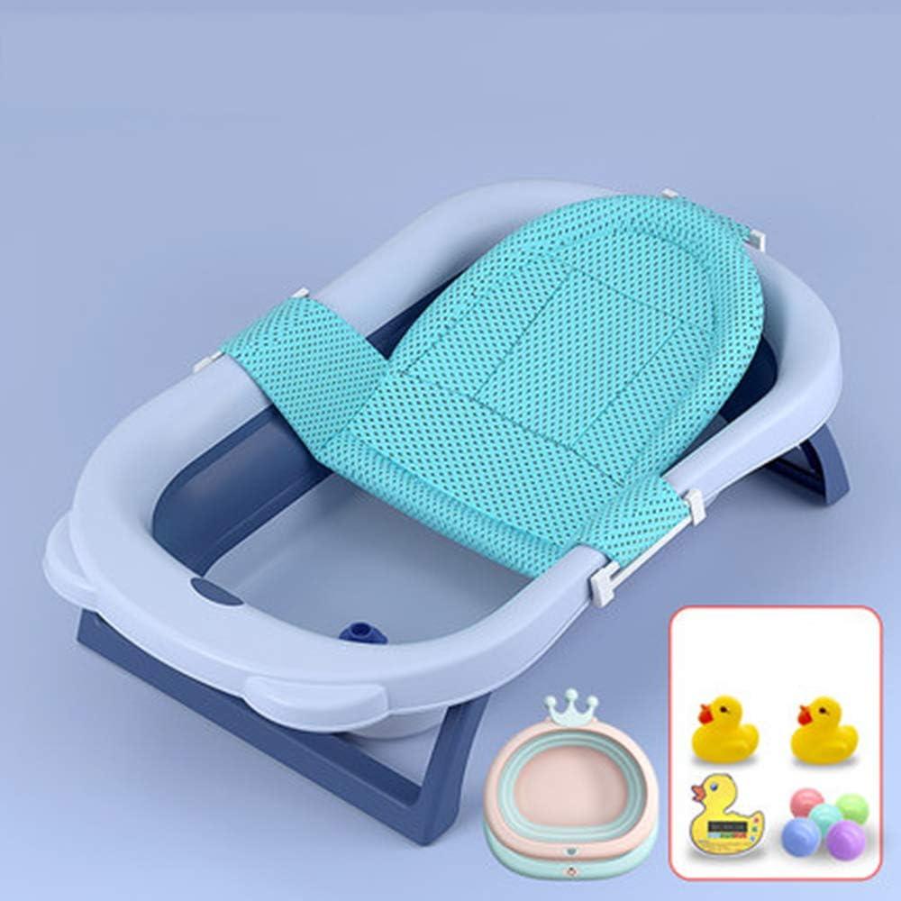 MTX-RM - Bañera para bebé recién nacido, se puede descansar y situarse en la bañera, se pliega con un solo botón, almacenamiento portátil, bloqueo de la temperatura, disponible para 0-15 años