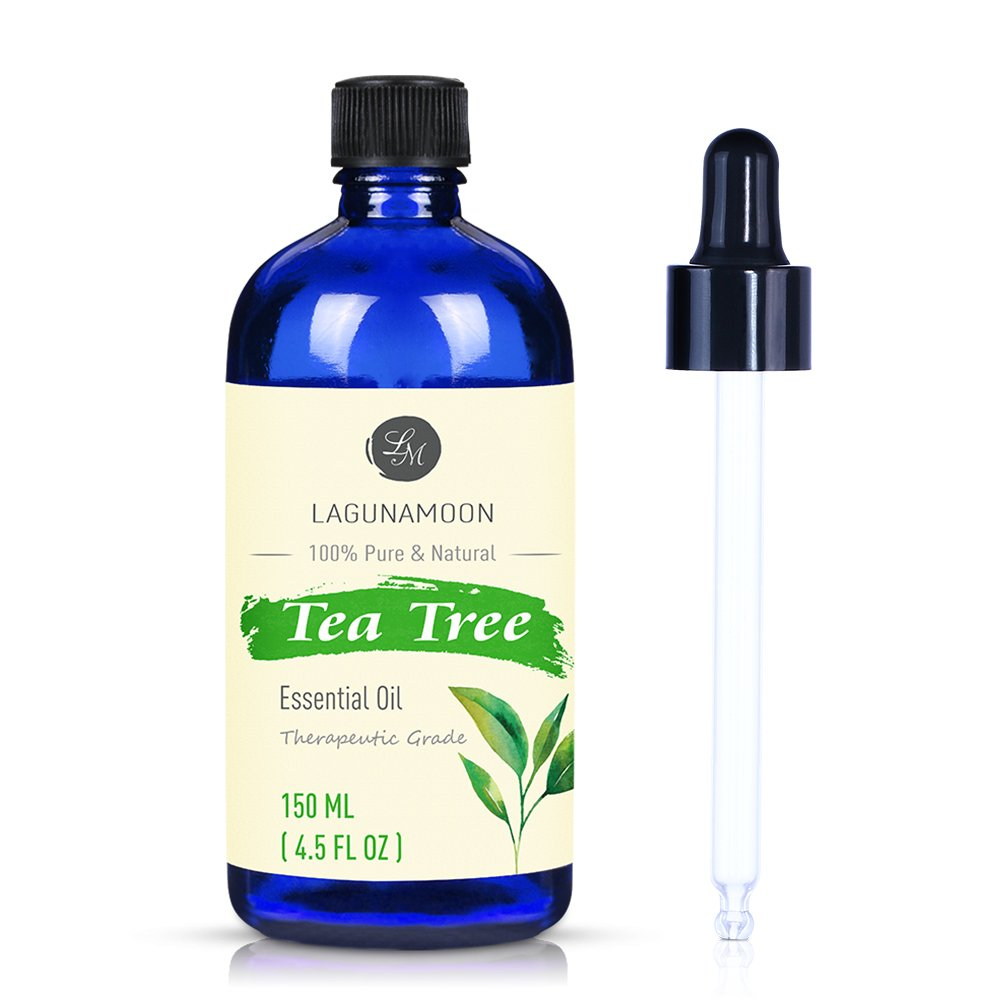 Lagunamoon Oli Essenziali, Olio Essenziale Aromaterapia di Tea Tree Oil, Olio Essenziale per Diffusori Puros al 100%, 150 ml con Contagocce LM-EO019-10ml