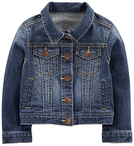 Girls Denim Dark (Simple Joys by Carter's Baby Girls' Toddler Denim Jacket, Medium Wash, 4T)