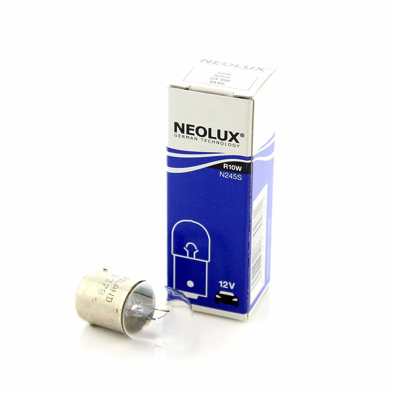 1x Genuine Neolux Medium BA15S (R10W 245) 12v 10w Clear Bulb [N245S]