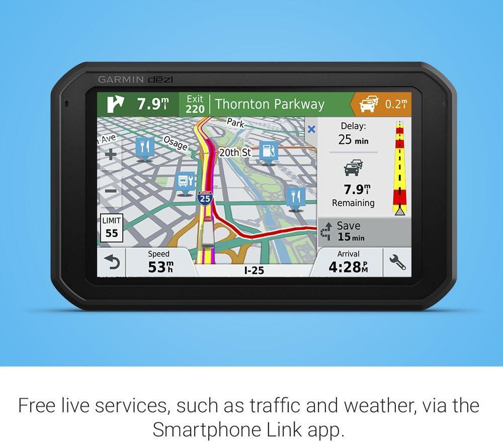 6.95 inches Garmin dēzl 780 LMT-S GPS Truck Navigator 010-01855-00