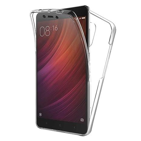 TBOC Funda para Xiaomi Redmi Note 4 - Note 4X (5.5 Pulgadas) - Carcasa [Transparente] Completa [Silicona TPU] Doble Cara [360 Grados] Protección ...