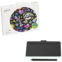 Wacom Intuos Bluetooth, Small Pistachio wireless drawing tablet, with 2 free creative software downloads, Corel Painter Essentials, Clip Studio Paint Pro or Corel Aftershot (CTL4100WLE0)