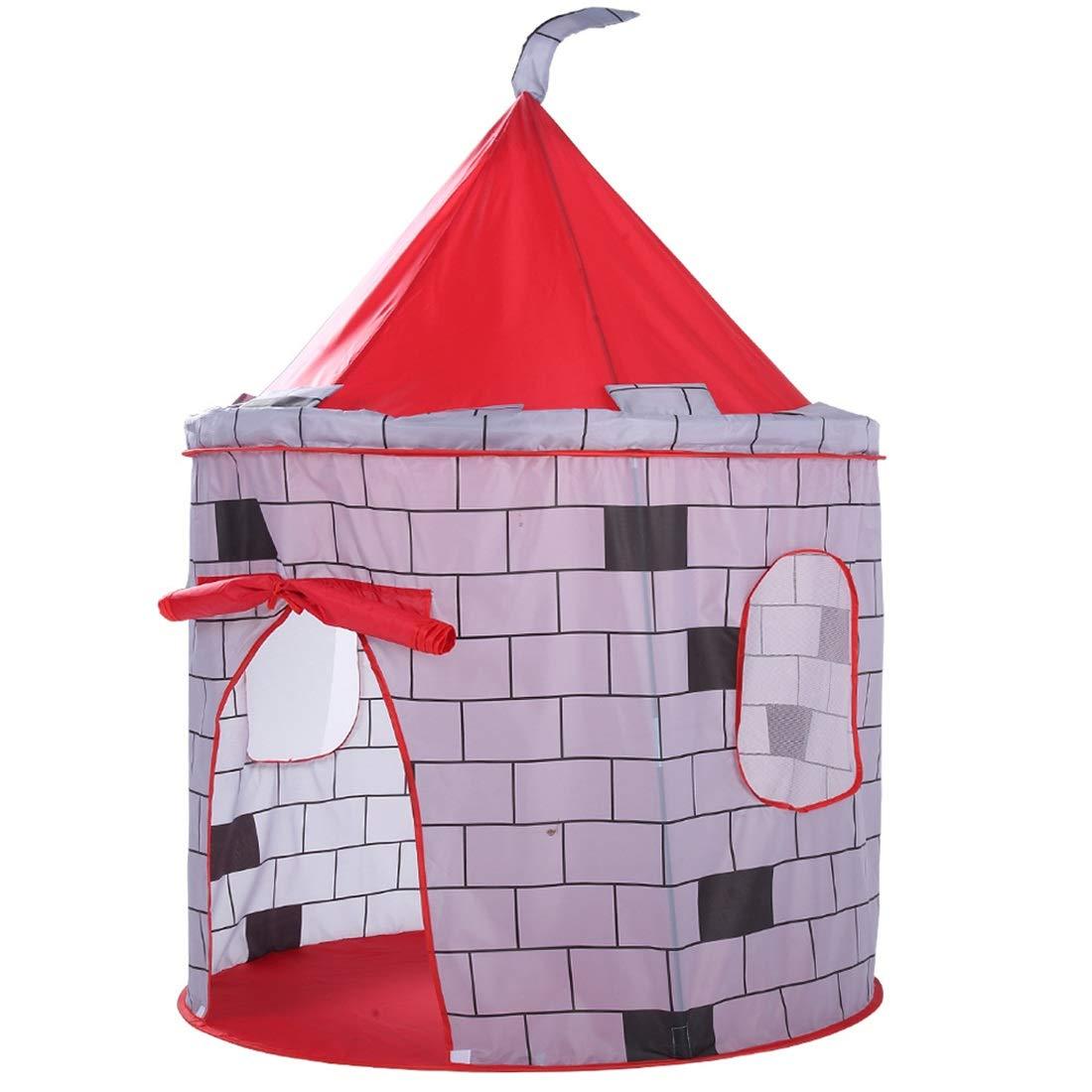 Fepelasi Castle Pattern Kids Zelte Indoor Kinder Spielzelt Spielplatz im Freien (Farbe : ROT)