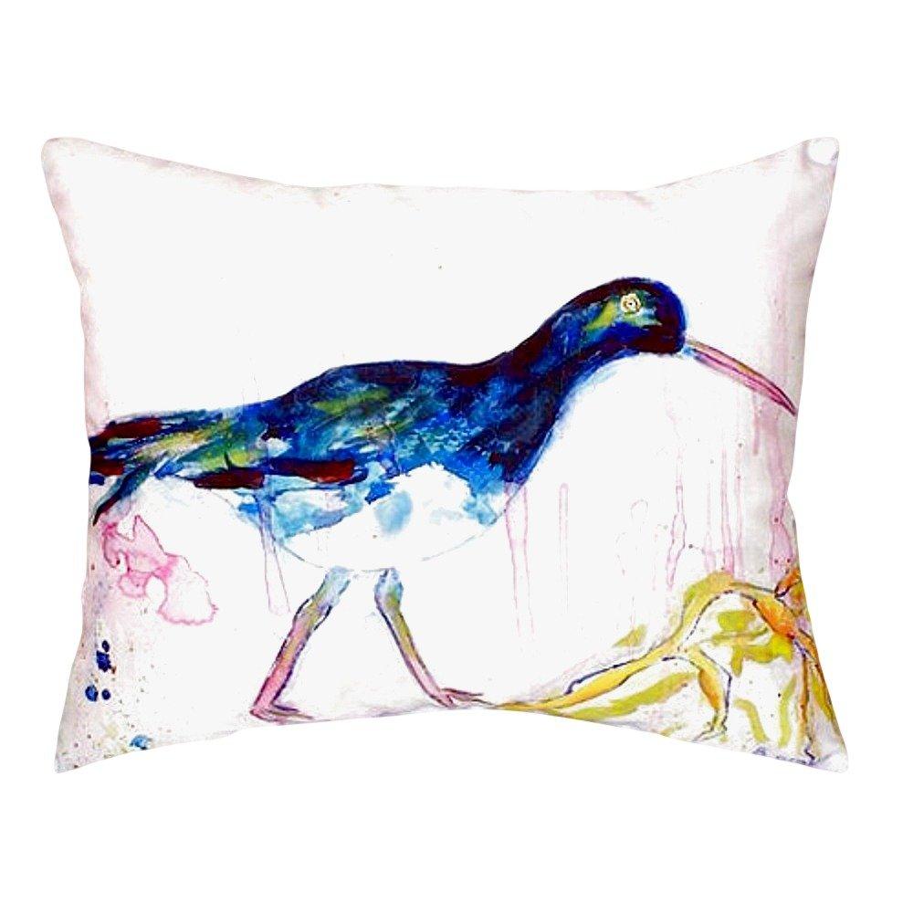 Betsy Drake NC421 Black Shore Bird No Cord Pillow 16 x20