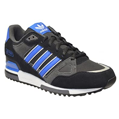 the best attitude 3abd3 61857 New ZX750 Mens Gents Black Blue Adidas Leather Lightweight Running Shoes  sizes 7-