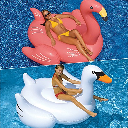 2 Piece Giant Swan and Flamingo Swimming Pool