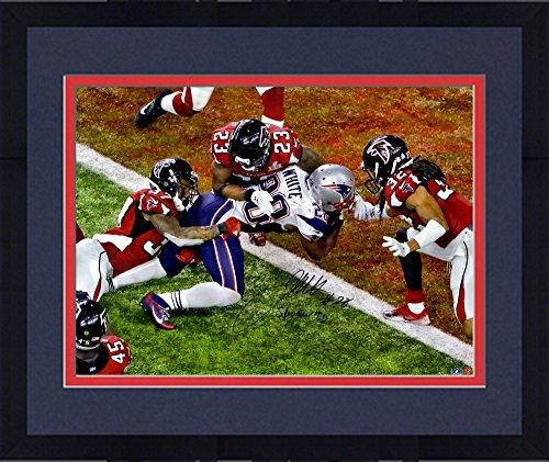 Framed James White New England Patriots Autographed 16