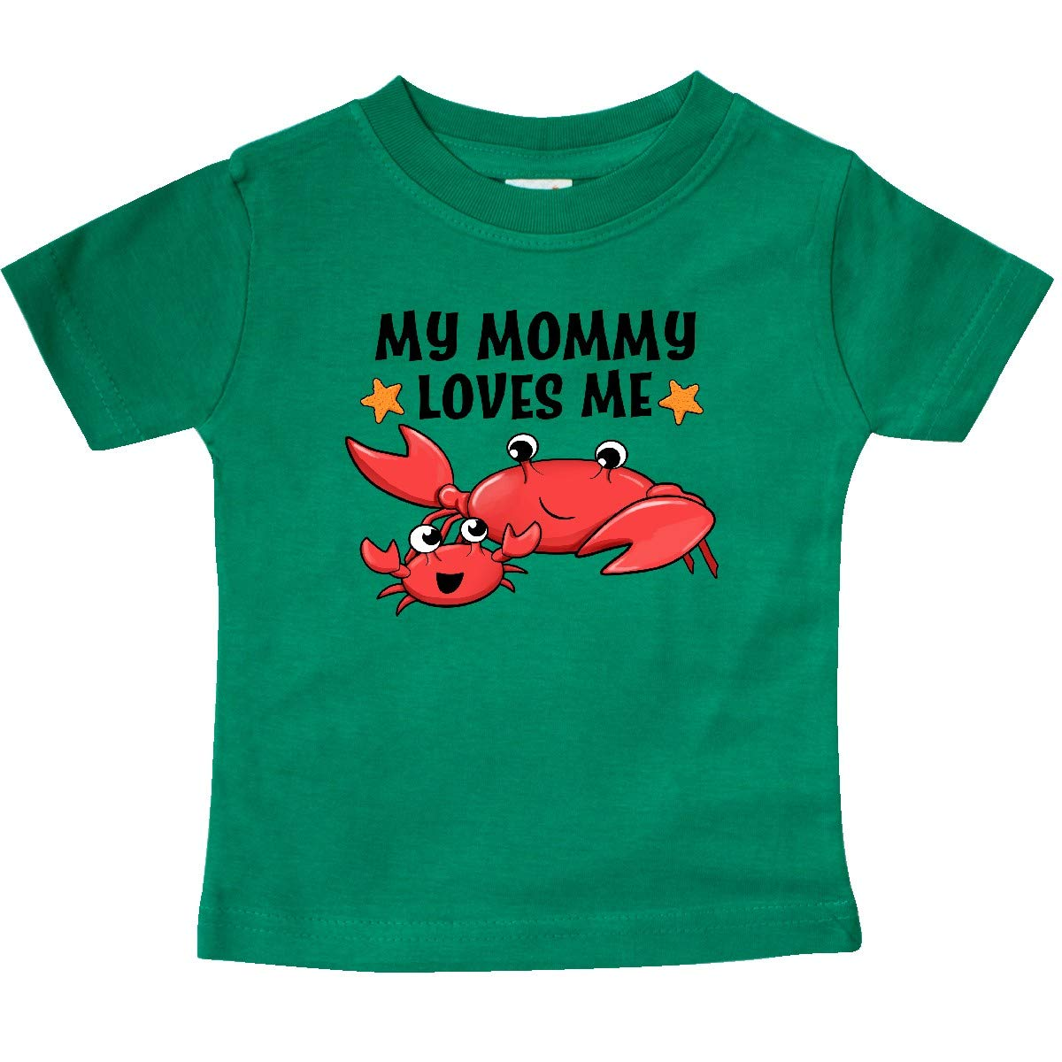 inktastic My Mommy Loves Me Cute Crab Family Baby T-Shirt
