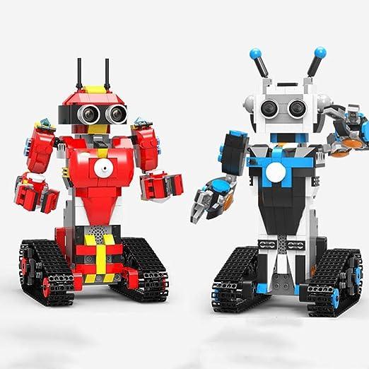 FHLH Robot de Juguete Juguete DIY del Bloque RC Robot Stick ...