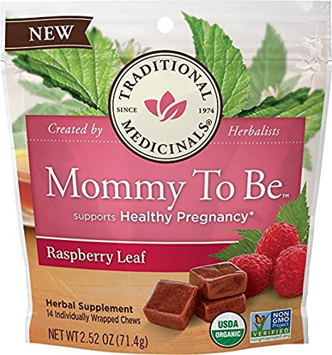 Traditional Medicinals Mommy to Be Herbal Pregnancy Supplement Chews, Raspberry Leaf (14 count) ()