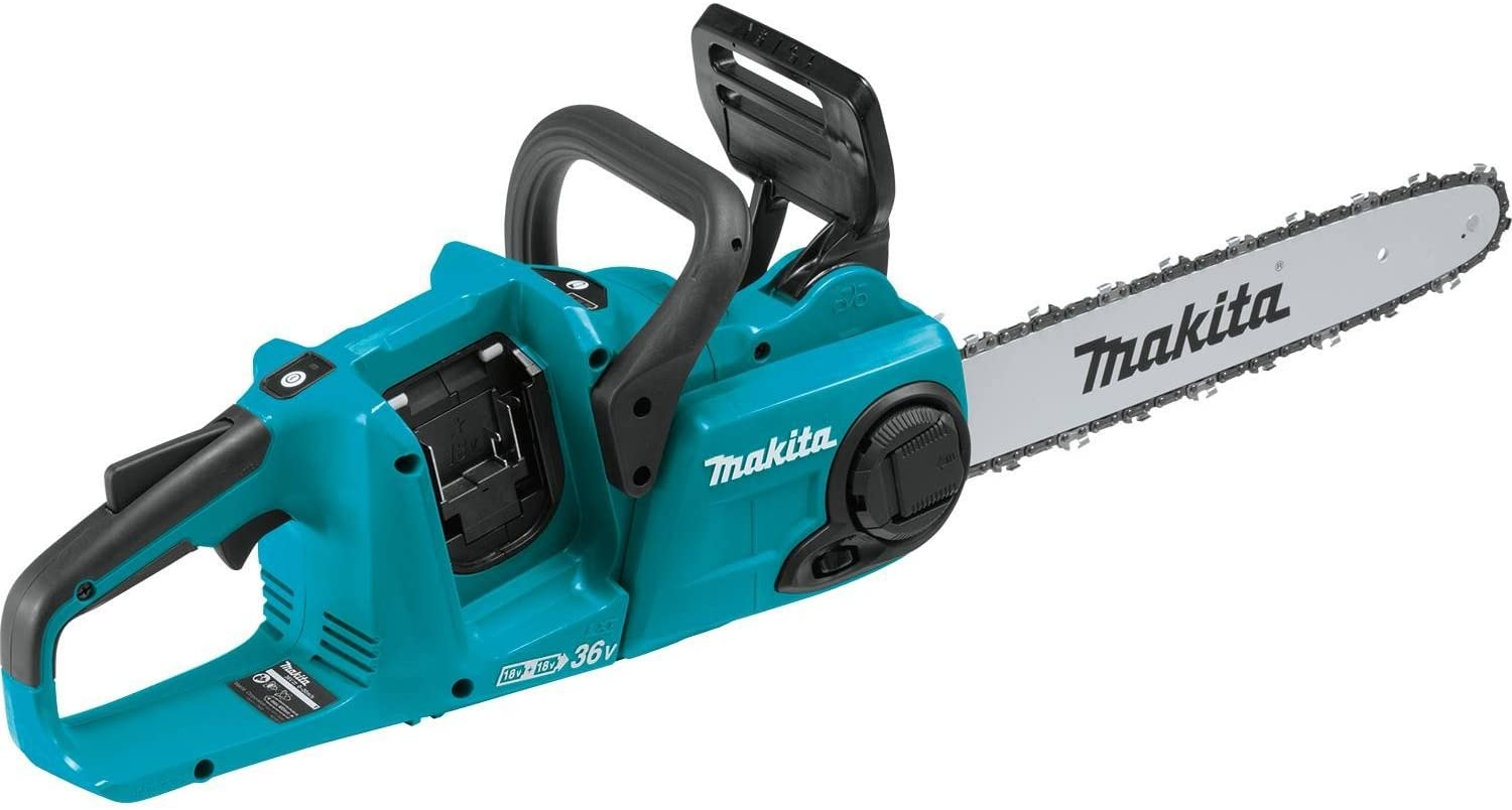 Makita XCU03Z 18V X2 36V LXT Lithium-Ion Brushless Cordless 14 Chain Saw, Tool Only, Teal
