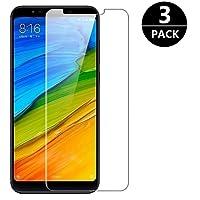 [3 Pezzi] Vetro Temperato Xiaomi Redmi 5 Plus, Modoca 9H Durezza Bordi Arrotondati da 2.5D, Pellicola Protettiva per Xiaomi Redmi 5 Plus