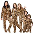 Footed Pajamas - - Cheetah Spots Adult Hoodie Chenille Onesie