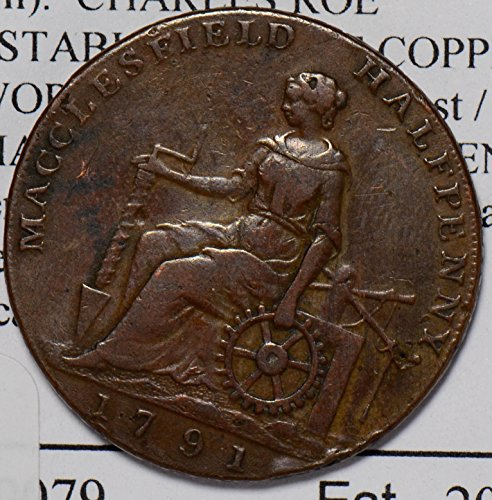 Conder Token - 1758 IE GR0187 Great Britain 1/2 Penny conder token D&H35 halfpenny DE PO-01