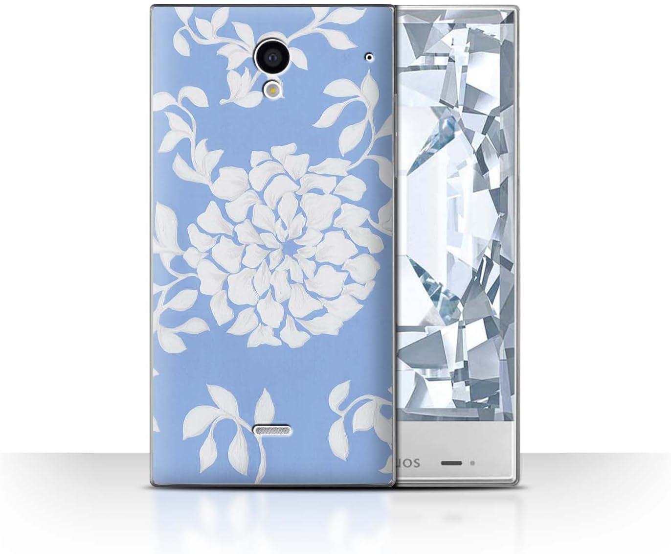 Stuff4® Phone Case/Cover/Skin/SP-CC/bluefshn Collection Fiore Chiaro Sharp Aquos Zeta SH-01F/Docomo: Amazon.es: Electrónica