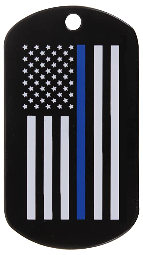 Amazon.com   Rothco Thin Blue Line Dog Tag   Sports   Outdoors 3d665c0d8fe