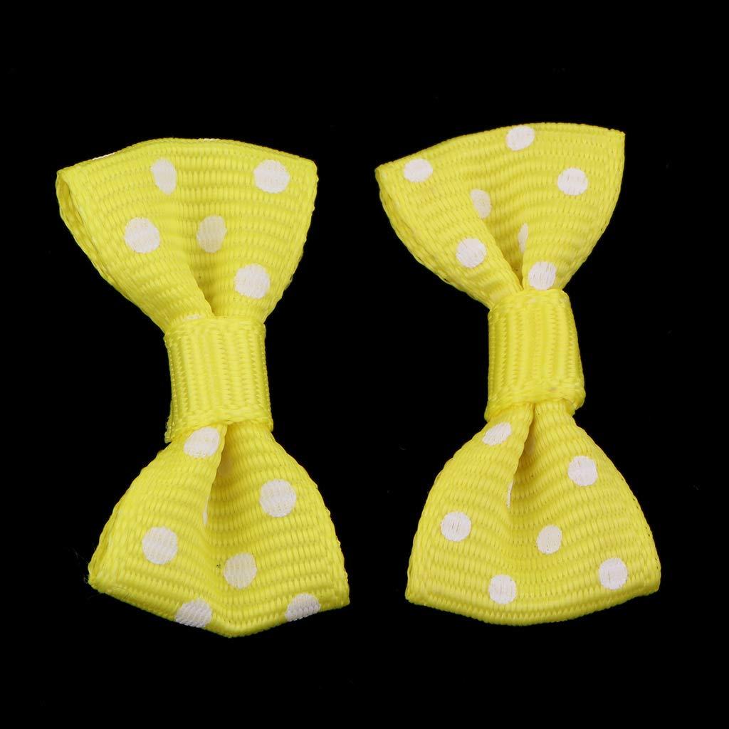Amarillo sharprepublic 50pcs Arco Lunares de Costura Lazo con Patr/ón de Puntos Redondos Hecho a Mano Accesorios para Hacer Proyectos de Arte
