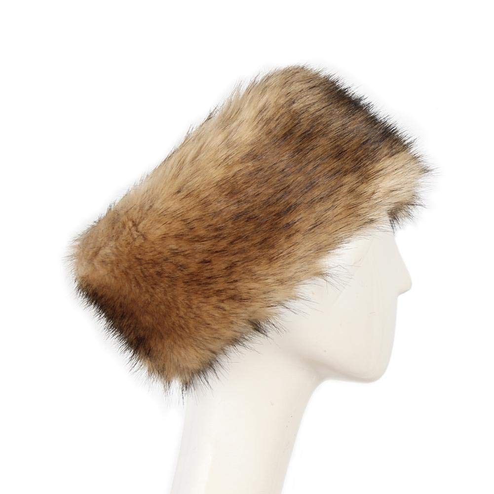 Rainai Fur Headband,fuax Fur Head Band,fur Headbands For Women P0202 Faux Fur Free Size Fashion For Women Men Winter