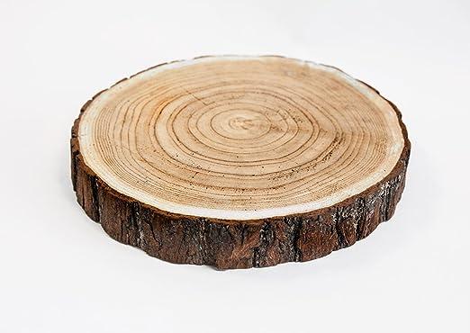 Rodaja de madera rústica para decoración de centro de mesa: Amazon ...