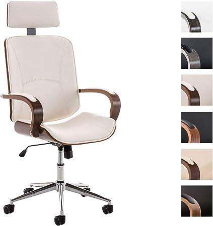 CLP Fauteuil de Bureau Ergonomique Dayton Rembourré avec Revêtement en Similicuir Chaise de Bureau Réglable Accoudoirs et roulettes Couleur: