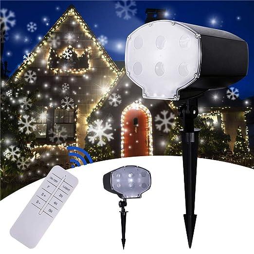 TYSYA Luces LED Nevadas proyector de la Navidad Control Remoto ...