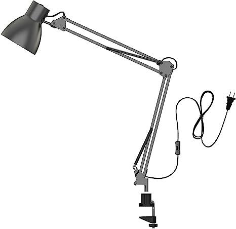 Tojane Swing Arm Desk Lamp Architect Table Clamp Mounted Light Flexible Arm Drawing Office Studio Table Lamp Grey Metal Finish Amazon Com