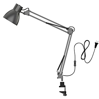 ToJane Swing Arm Desk Lamp,Architect Table Clamp Mounted Light, Flexible  Arm Drawing/