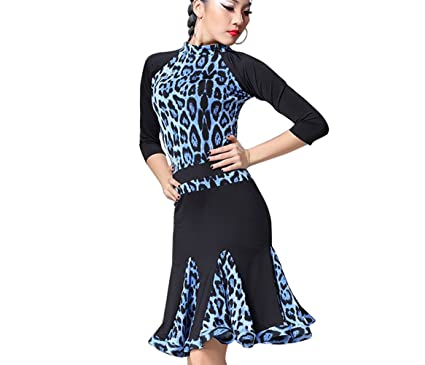 0b4e48ca387f YC WELL Women Latin Dance Dress Long Sleeve Samba Rumba Cha Cha Dance  Clothes at Amazon Women's Clothing store: